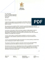 Premier Christy Clark letter to NDP Leader John Horgan