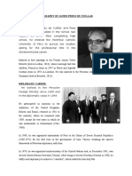 Biografia de Javier Perez de Cuellar II