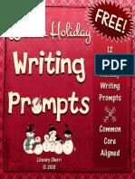 WritingTaskCardsWinterHolidayWritingPromptsGrades78910