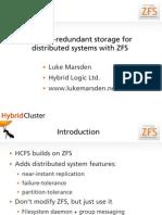 Hybrid Cluster ZFS Talk