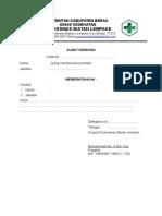 Format Surat Perintah