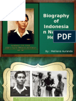 Biography of Indonesian National Heroes