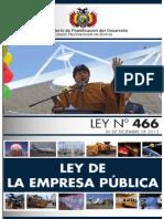 Ley n 466 Ley de La Empresa Publica
