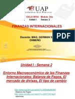 2. Balanza de Pagos, El Mercado de Divisas, El Tipo de Cambio