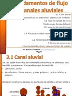 3. Fundamentos de Flujo en Canales Aluviales