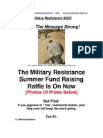 Military Resistance 8G23 Keep the Message Strong