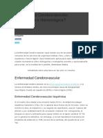 Enfermedad Cerebrovascular