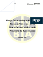 Pliego Unico de Especificaciones Tecnicas Generales Dpvba