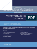 primary quantitative research