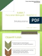 K7 webpac 2