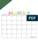 August 2010 Calendar - The TomKat Studio