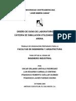 Diseño de Guías de Laboratorio Para La Cátedra de Simulación Utilizando Software Arena. Facultad de Ingeniería y Arquitectura Ingeniero Industrial