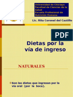 Clase Dietas Por La Vía de Ingreso