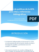 Resumen de políticas de la APA para citas