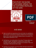 Comparative Study on Saving Accounts of Axis Bank