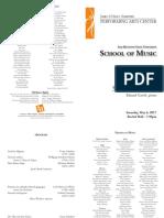 Student Recital - Eduard Gavril, Piano - Program Recital