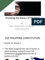 Republic Act No. 9262 Sample Lecture