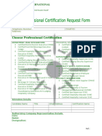 AHLA Proffessional Certification Request Form