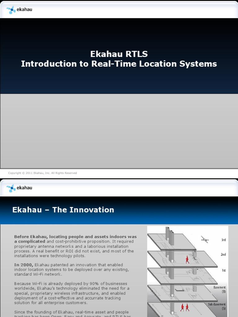 Ekahau RTLS Overview+Intro | Wi Fi | Innovation
