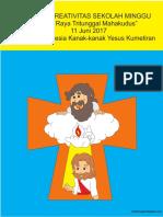 Bahan Kreativitas Sekolah Minggu 11 Juni 2017 PIA St.Theresia Kanak-kanak Yesus Kumetiran