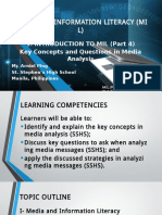 1. Introduction to MIL (Part 4)- Key Concepts and Questions to Ask in Media Literacy