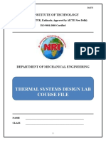 Thermal Systems Design Lab