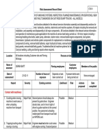 Risk Assessment sheet