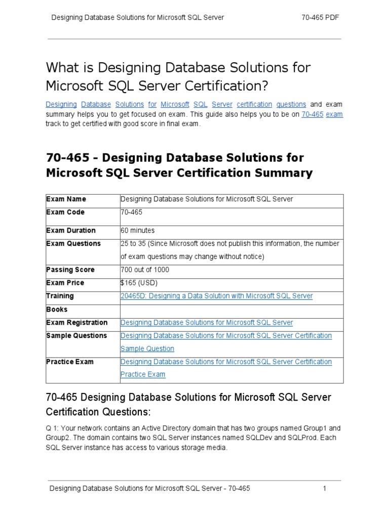 Certification guide on designing database solutions for microsoft certification guide on designing database solutions for microsoft sql server 70 465 microsoft sql server database index 1betcityfo Gallery