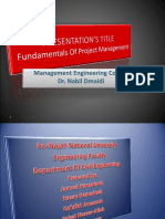 Presentation Fundamentals of Project Management