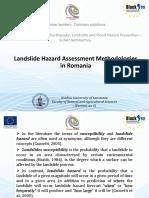Landslide Hazard Assessment Methodologies in Romania