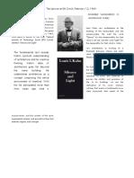 Louis Khan_Silence & Light _Book Review