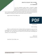 001 - Directors' Resolution Declaring Stock Dividends
