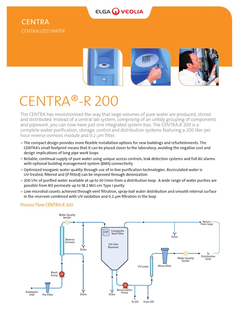 elga centra r200 purified water water purification rh scribd com