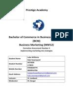 Business Marketing Assignment