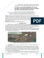 An Analysis of the Noise Level at the Residential Area as the Impact of Flight Operations at the International Airport of Sultan Hasanuddin Maros In South Sulawesi Province