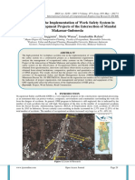 An Analysis of the Implementation of Work Safety System in Underpass Development Projects of the Intersection of Mandai Makassar-Indonesia