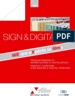 X Film Sign Digital Produktkatalog
