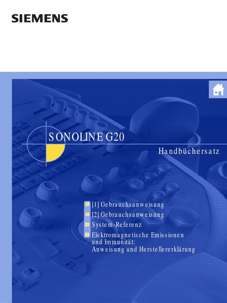 Siemens Sonoline G20 - Bedienungsanleitung