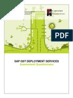 SifySAP - GST Deployment Questionnaire