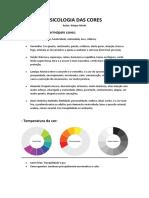 O estudo,  aplicação e psicologia das cores