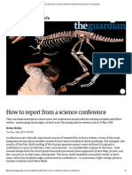 How to Report From a Science Conference _ Robin McKie _ Science _ the Guardian