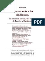 Una Vez Más a Los Sindicatos-La Situacion Actual y Los Errore de Trotsky y Buhkarin