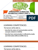 1.MIL 1. Introduction to MIL (Part 1)-Communication, Media, Information, Technology Literacy, And MIL (1)