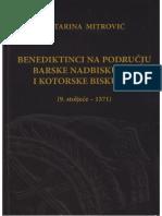 Katarina Mitrović - Benediktinci na području Barske nadbiskupije i Kotorske biskupije
