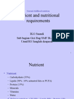 Nutrient and Nutritional Requirement