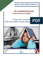"""Conferinta """"Școala românească azi. Controverse și soluții"""""""