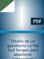 Diseño de Un Gasoducto La Paz Sud Yungas