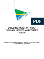Building Over or Near Council Sewer and Water Mains Guidelines