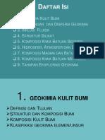 GKU-1 & 2 Geokimia Kulit Bumi & Dispersi
