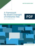A Framework for Board Oversight of Enterprise Risk July 2015